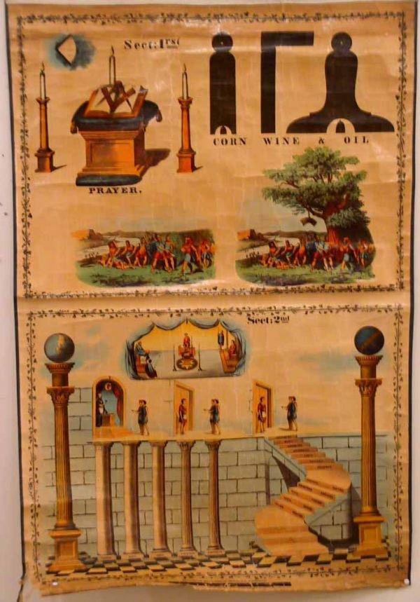 189: 3 Vintage Masonic charts - 4
