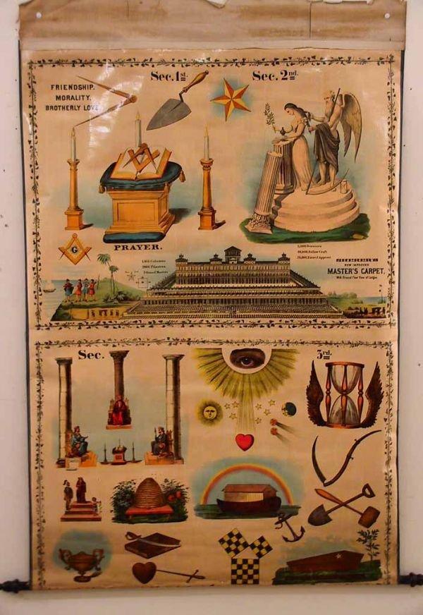 189: 3 Vintage Masonic charts - 5