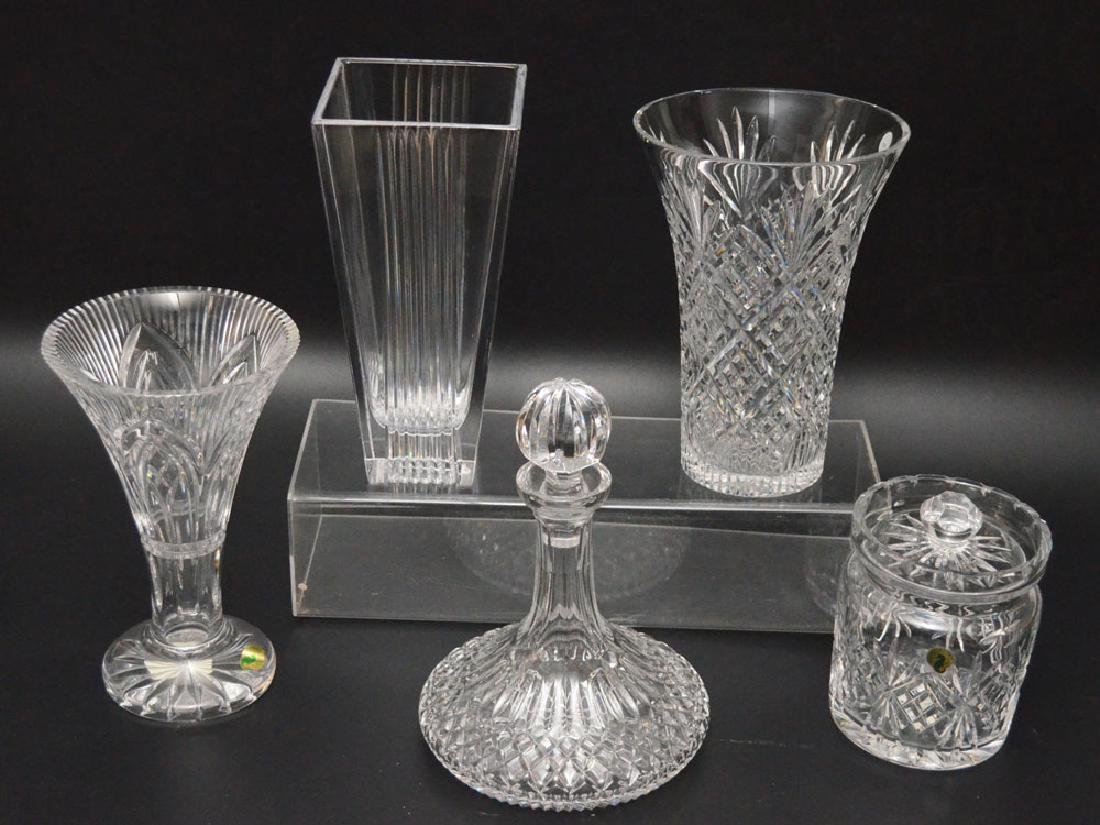 Lot Of Cut Glass ( Waterford & Tiffany Vases)