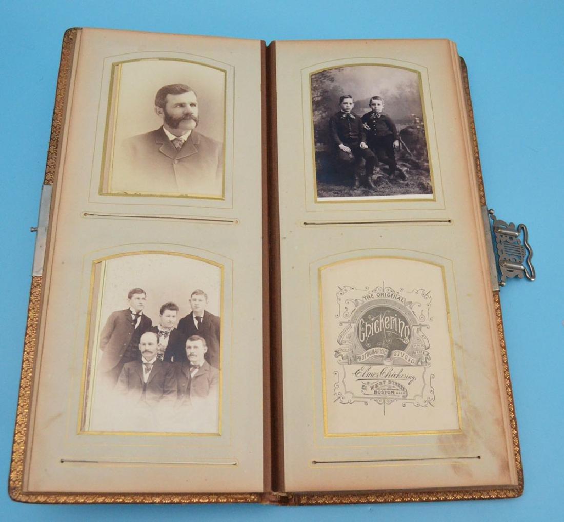 Unusual Leather Victorian Photograph Album