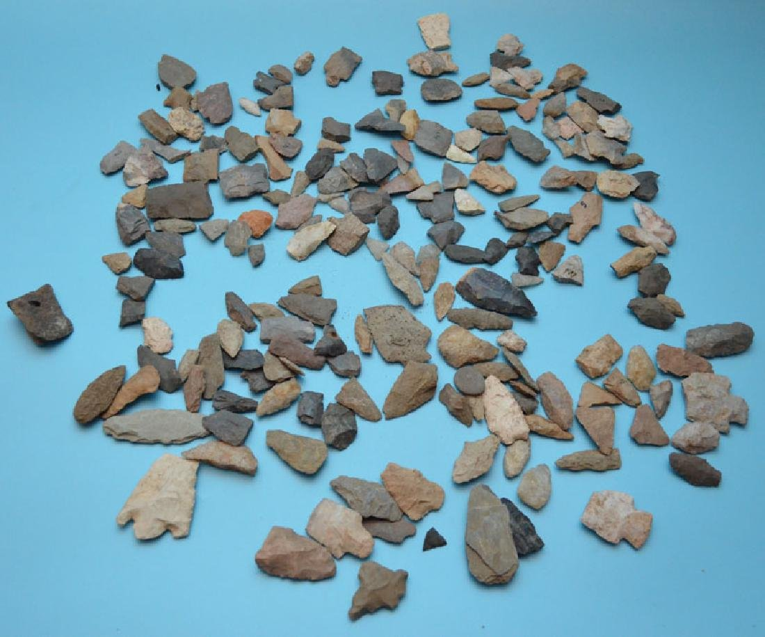 Large Group Of Ancient Native American Arrowheads