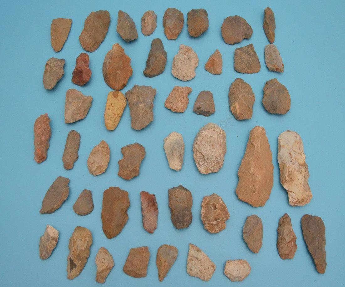 Native American Blanks, Scrapers, Knives, Chipped Axes