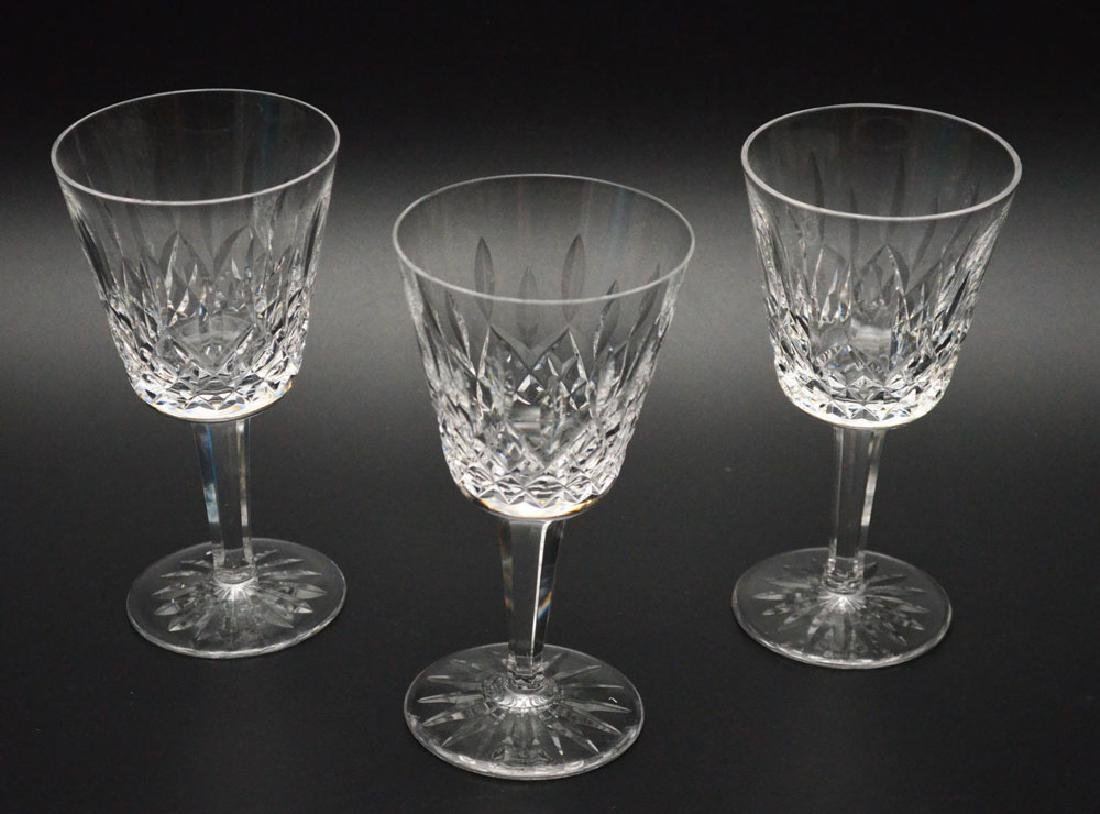 Lot Of 12 Waterford Lismore Claret Wine Glasses