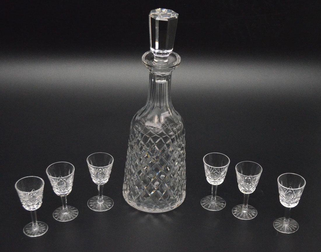 Lot Of 6 Waterford  Cordials And Alana Decanter