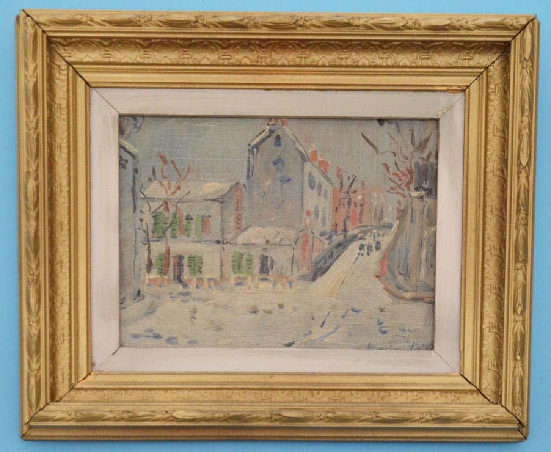 Maurice Utrillo Signed Oil on Board Painting