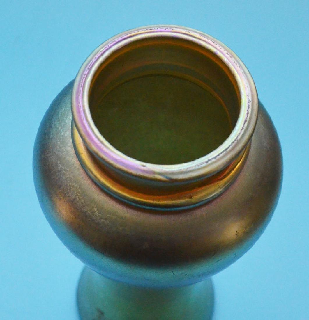 Tiffany Favrile Gold Vase Signed Louis C Tiffany - 2