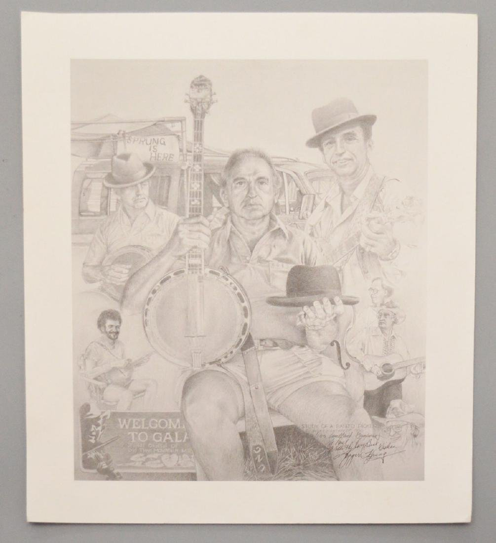 Willard Gayheart Signed & Numbered Banjo Study