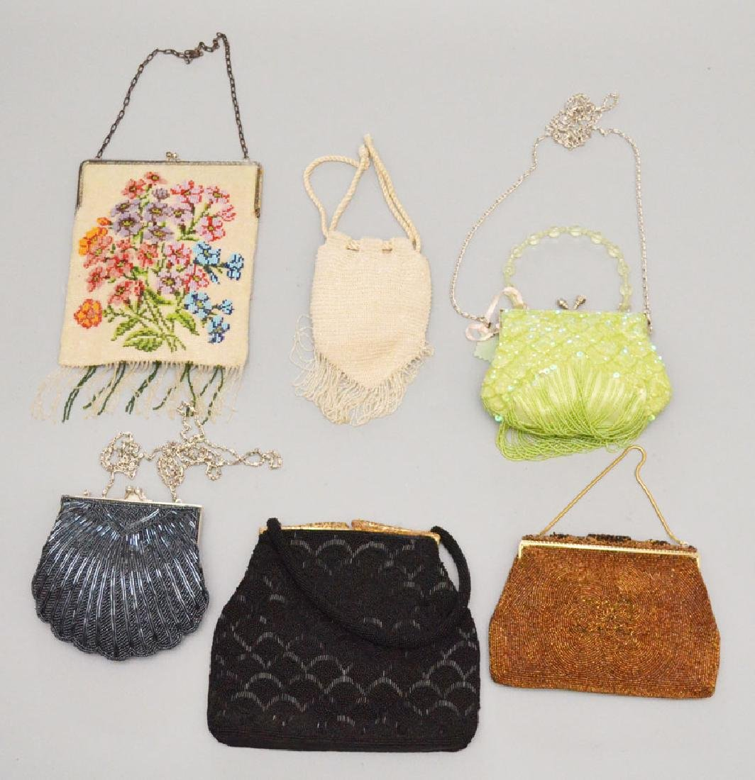 Lot of 6 Beaded Evening Bags