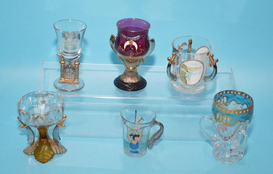 Antique Shriners Cups ( Pressed & Blown)