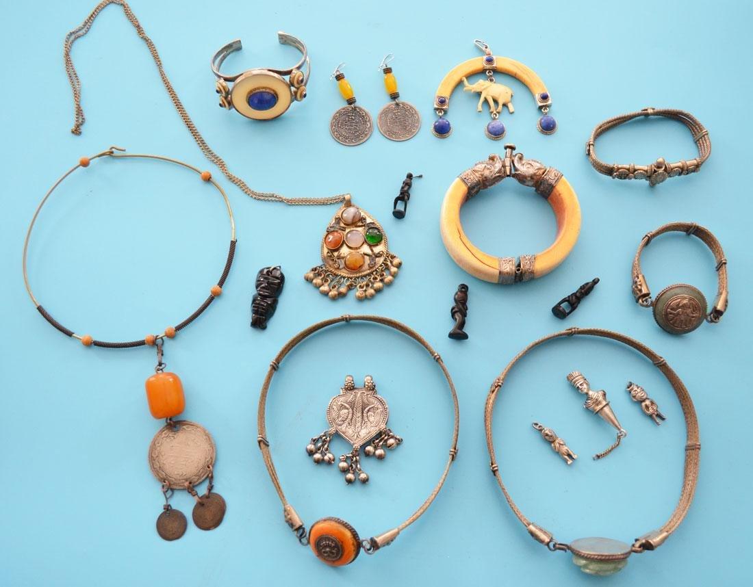 Lot of Antique Ethnic Jewelry