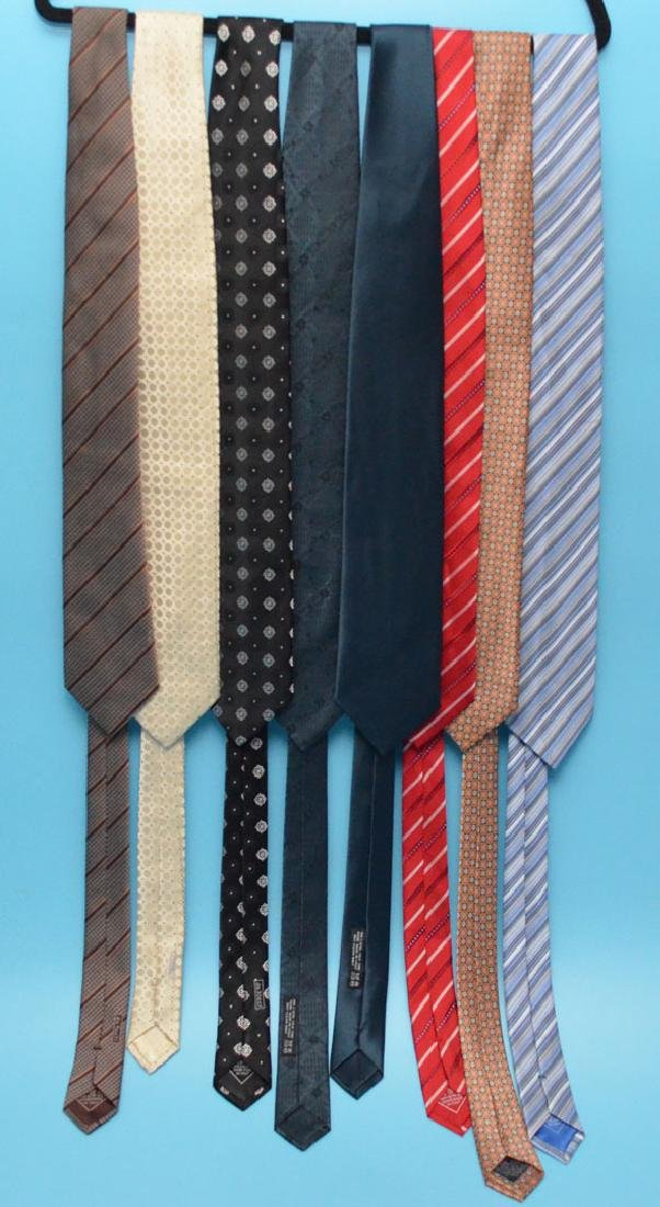 Lot Of 8 Designer Brioni Ties