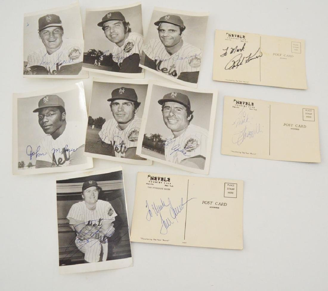 Lot of Signed Mets Baseball Pictures