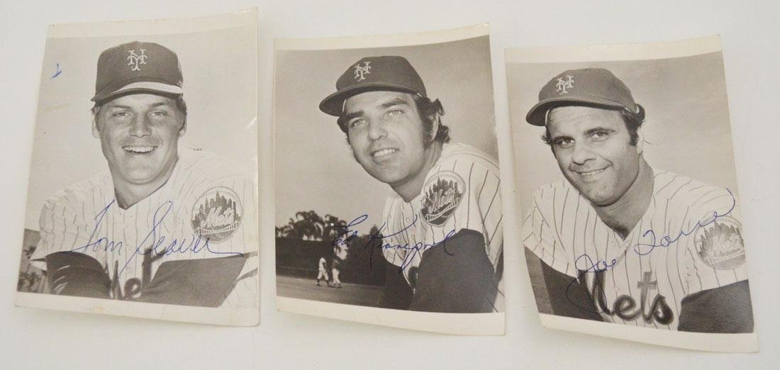 Lot of Signed Mets Baseball Pictures - 2