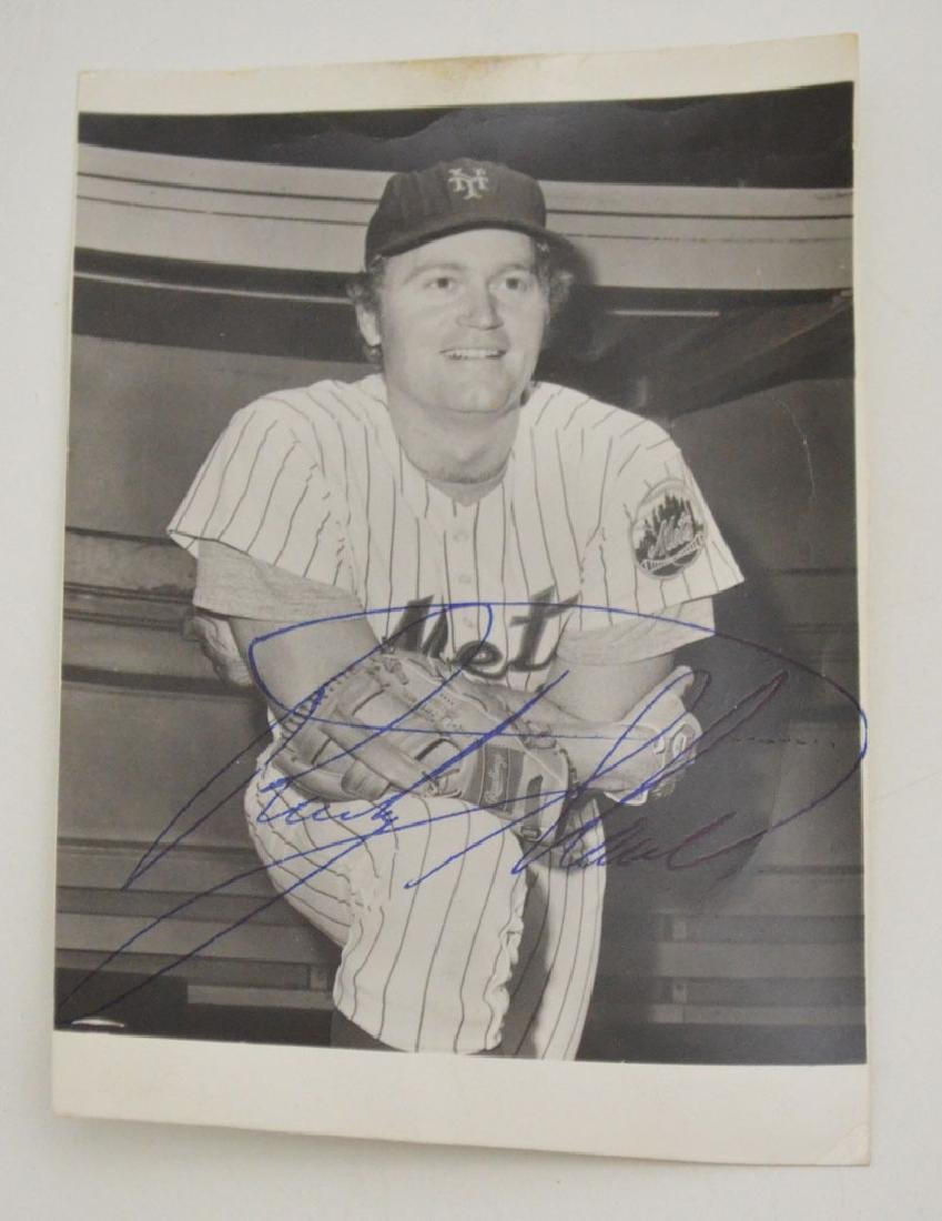 Lot of Signed Mets Baseball Pictures - 5