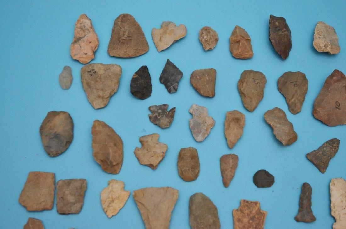 Lot Of Native American Arrowheads, Scrapers & Blanks - 3