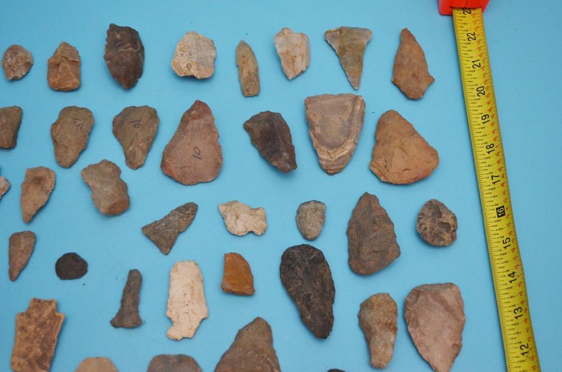 Lot Of Native American Arrowheads, Scrapers & Blanks - 4