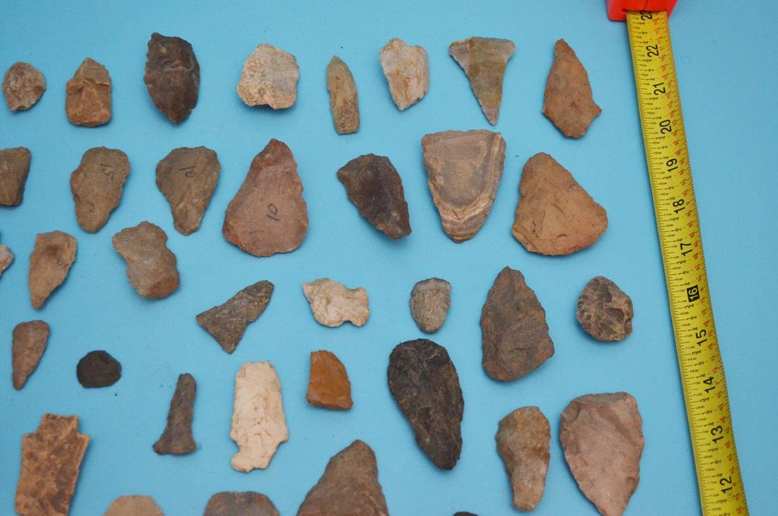 Lot Of Native American Arrowheads, Scrapers & Blanks - 4