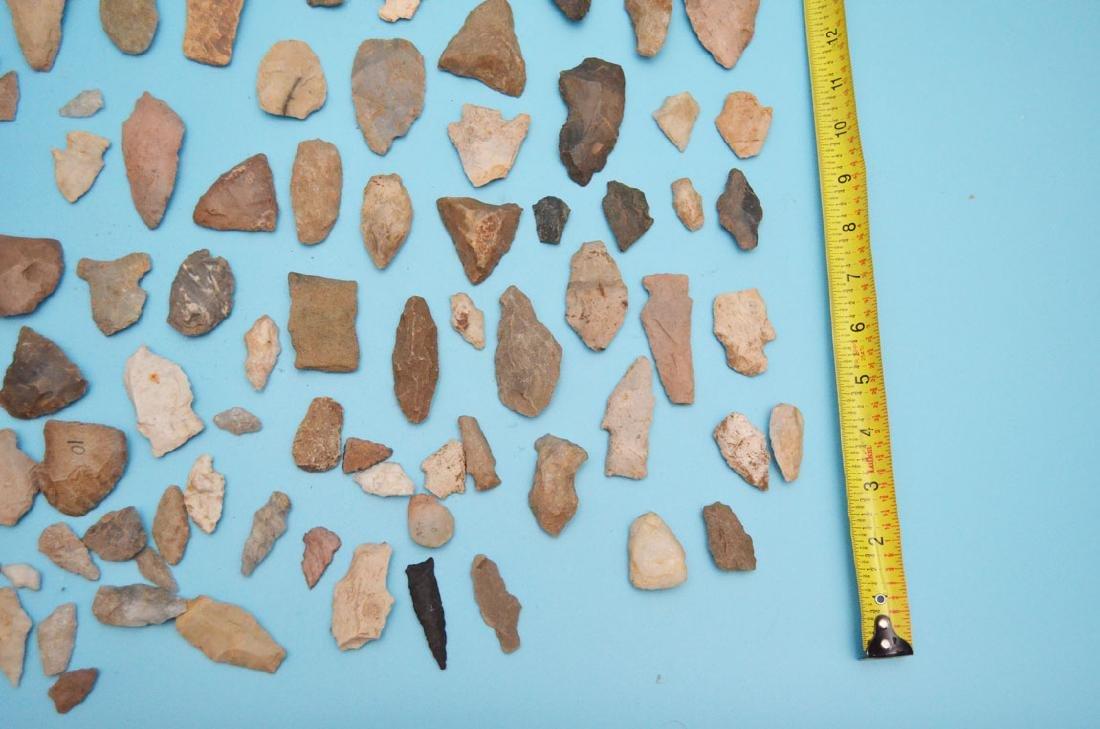 Lot Of Native American Arrowheads, Scrapers & Blanks - 5