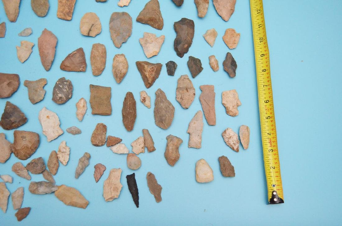 Lot Of Native American Arrowheads, Scrapers & Blanks - 5