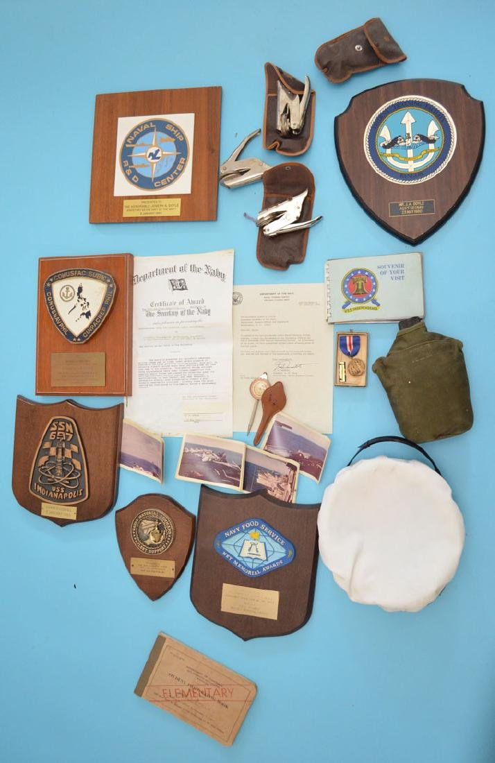 Collection of Naval Militaria (Letters, Pictures