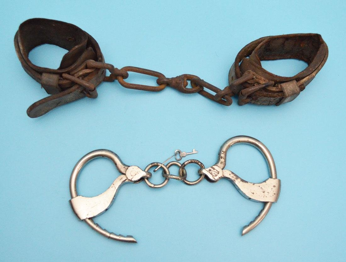 Antique Shackles & Handcuffs