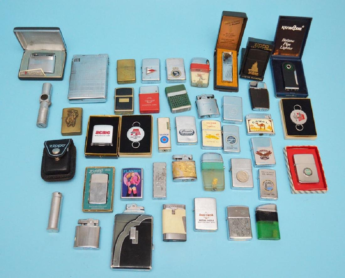 Large Group of Zippo Lighters