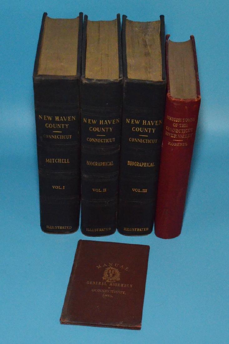 Lot of Antique New Haven Co Connecticut Books