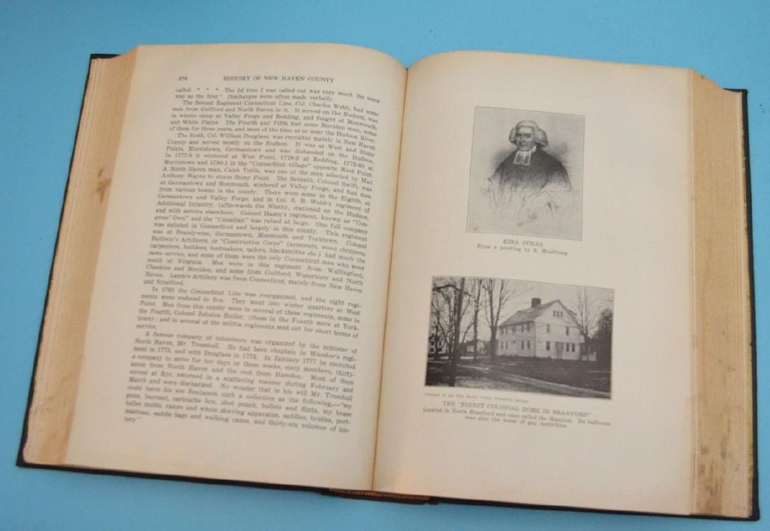 Lot of Antique New Haven Co Connecticut Books - 4