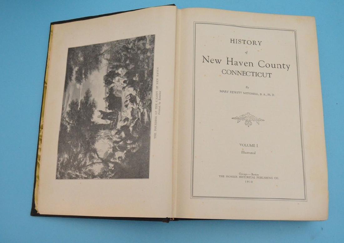 Lot of Antique New Haven Co Connecticut Books - 5