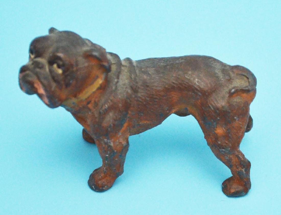 Fun Antique Dog Lot  & Lantern ( Bronze, Wood, Cold - 2