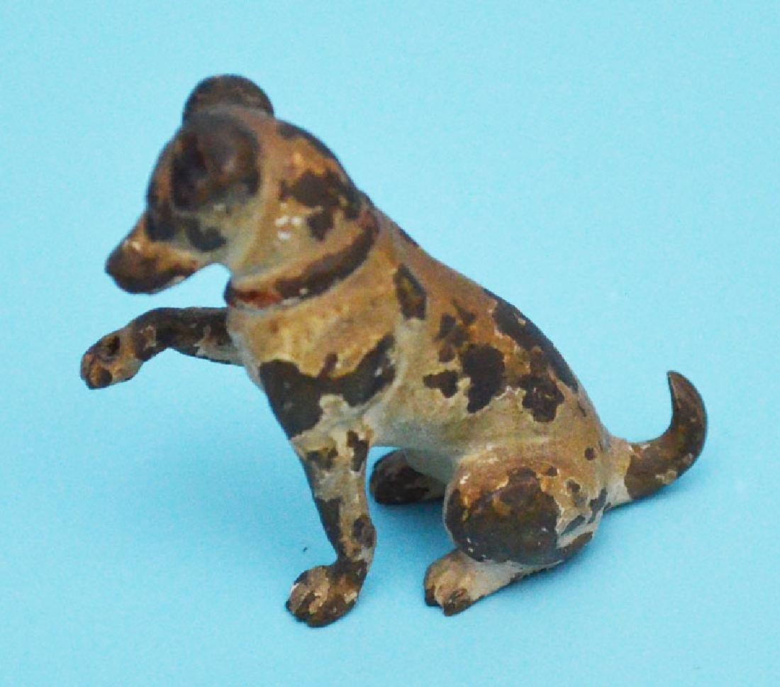 Fun Antique Dog Lot  & Lantern ( Bronze, Wood, Cold - 4