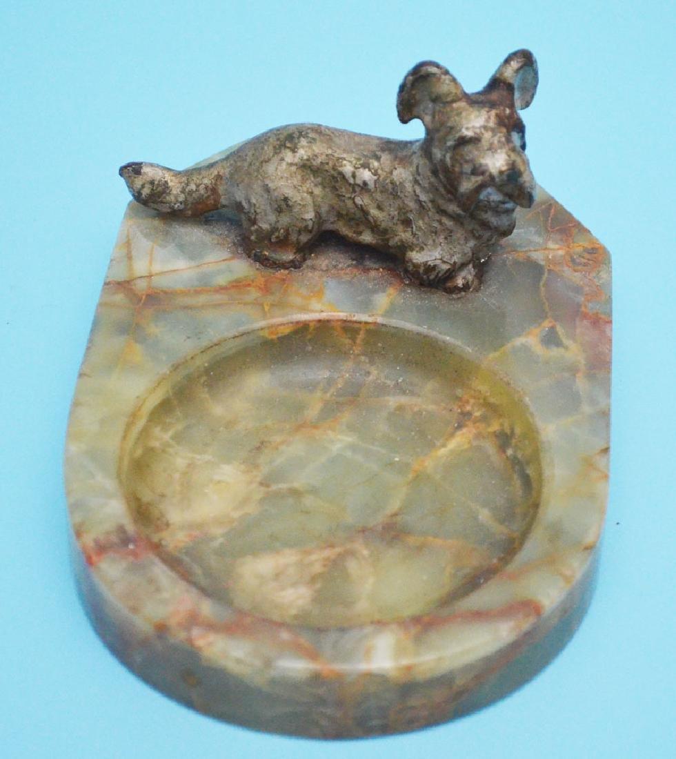 Fun Antique Dog Lot  & Lantern ( Bronze, Wood, Cold - 6