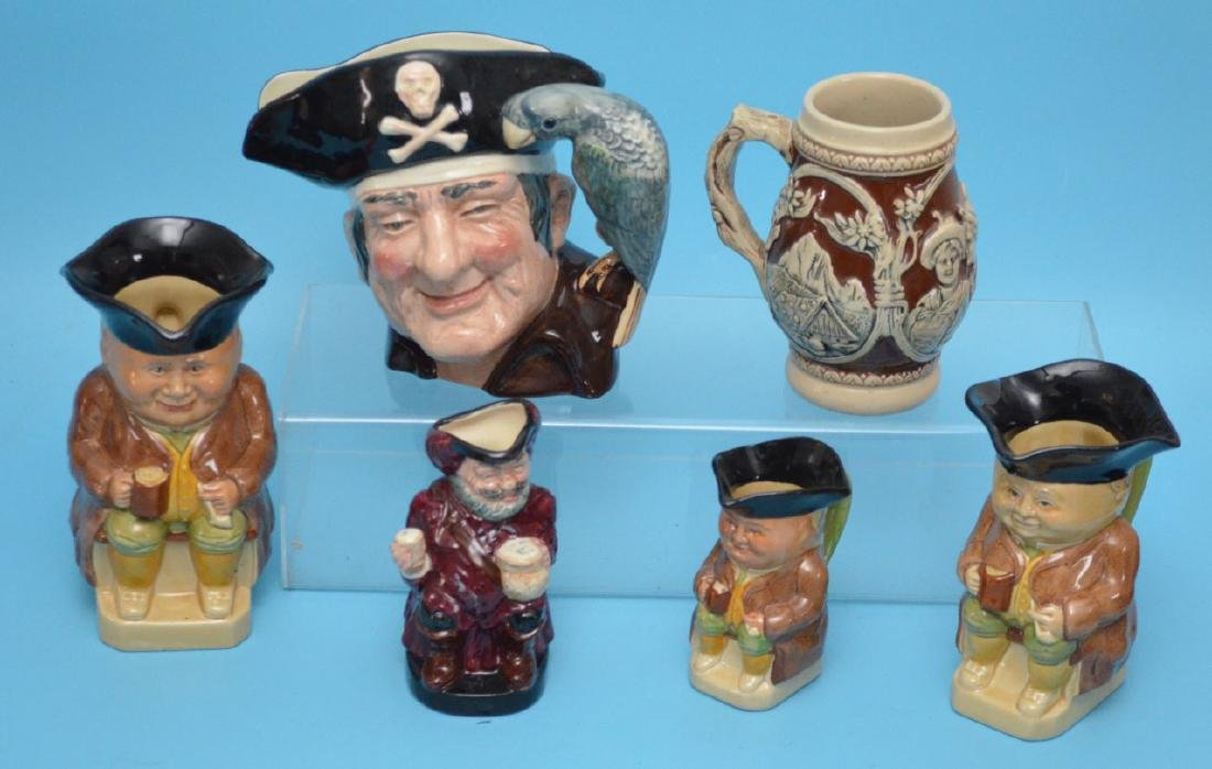 Group Of Antique Toby Mugs  (  including Doulton (