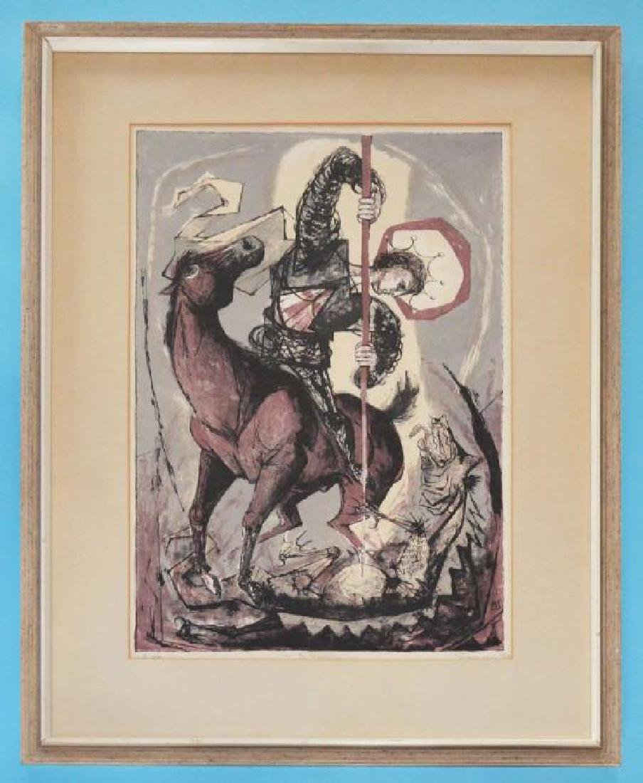 Signed & Numbered Benton Spruance St. George Litho