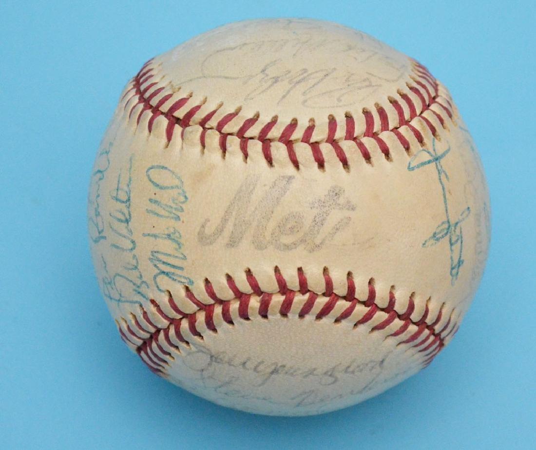 Team Signed Mets Baseball