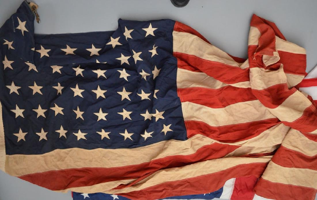 Lot of Vintage / Antique American Flags - 2