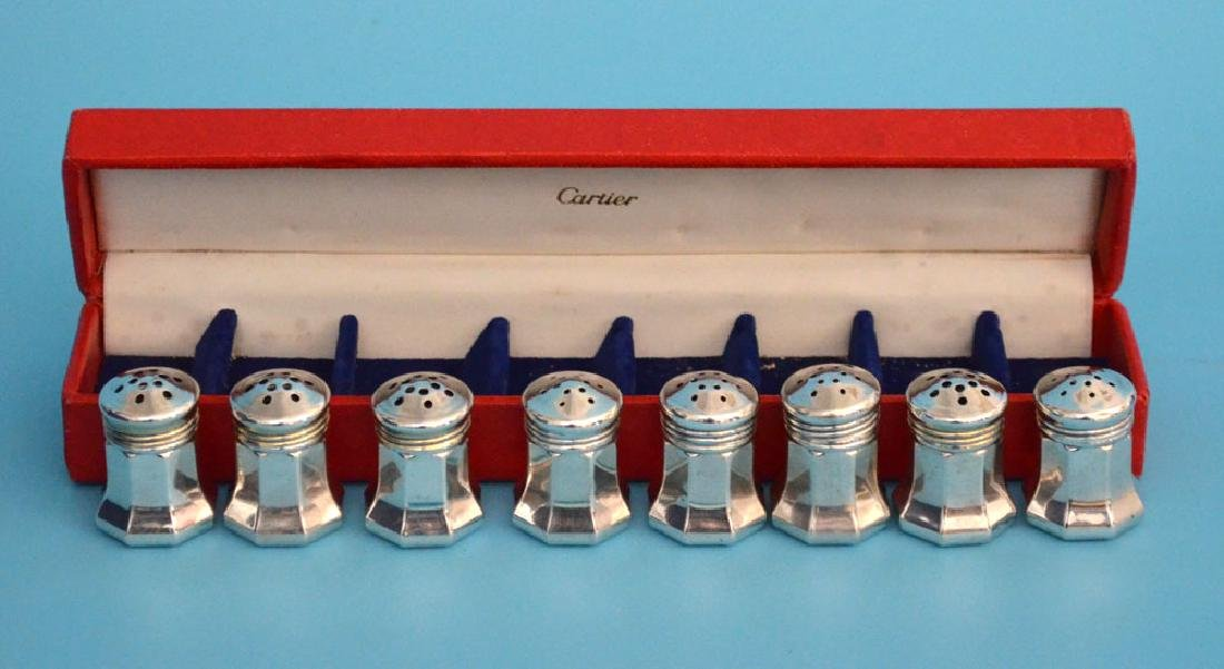 4 Prs Of Cartier Sterling Silver  Salts And Peppers