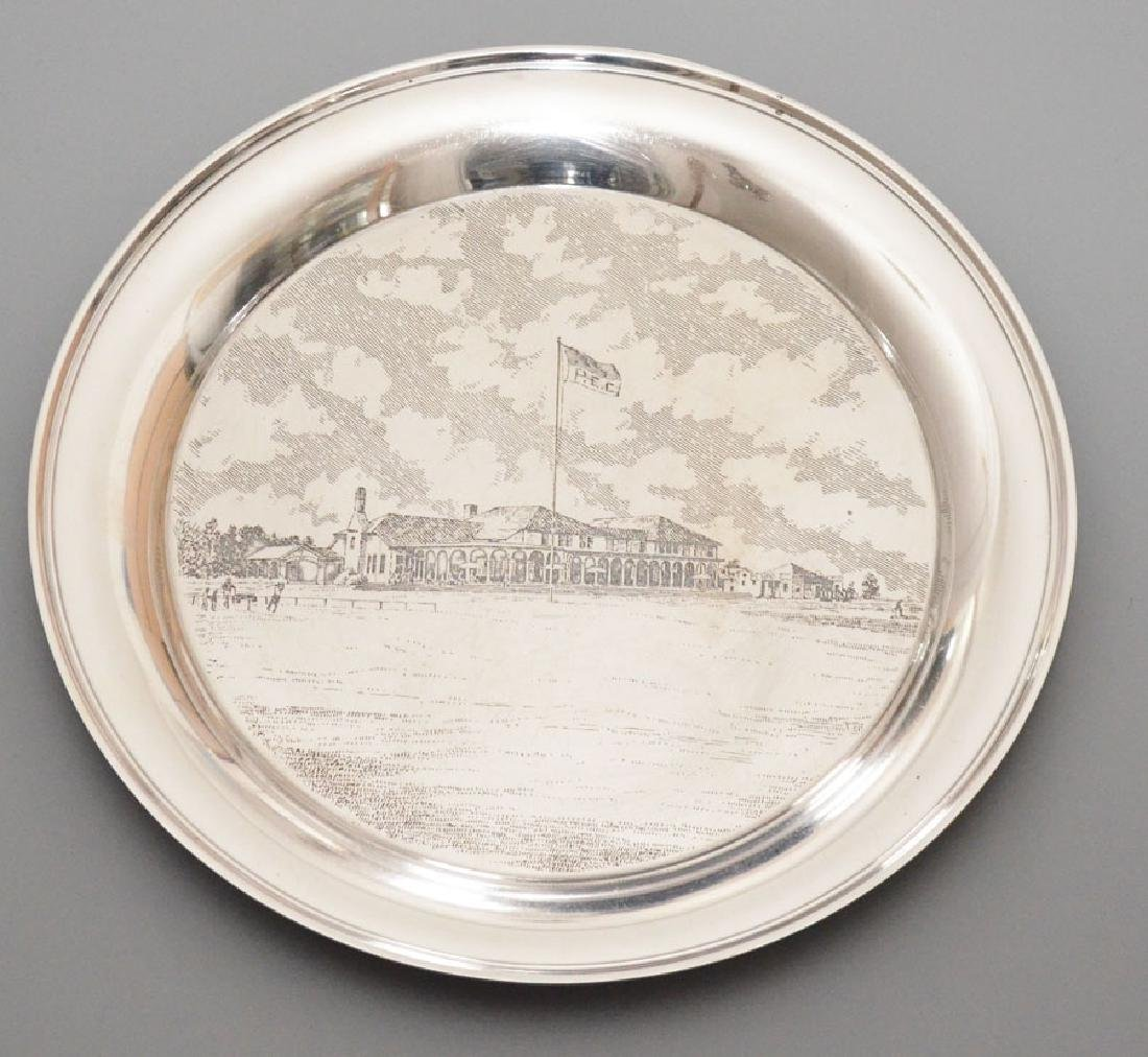 Handsome Sterling Silver Serving Tray  Country Club