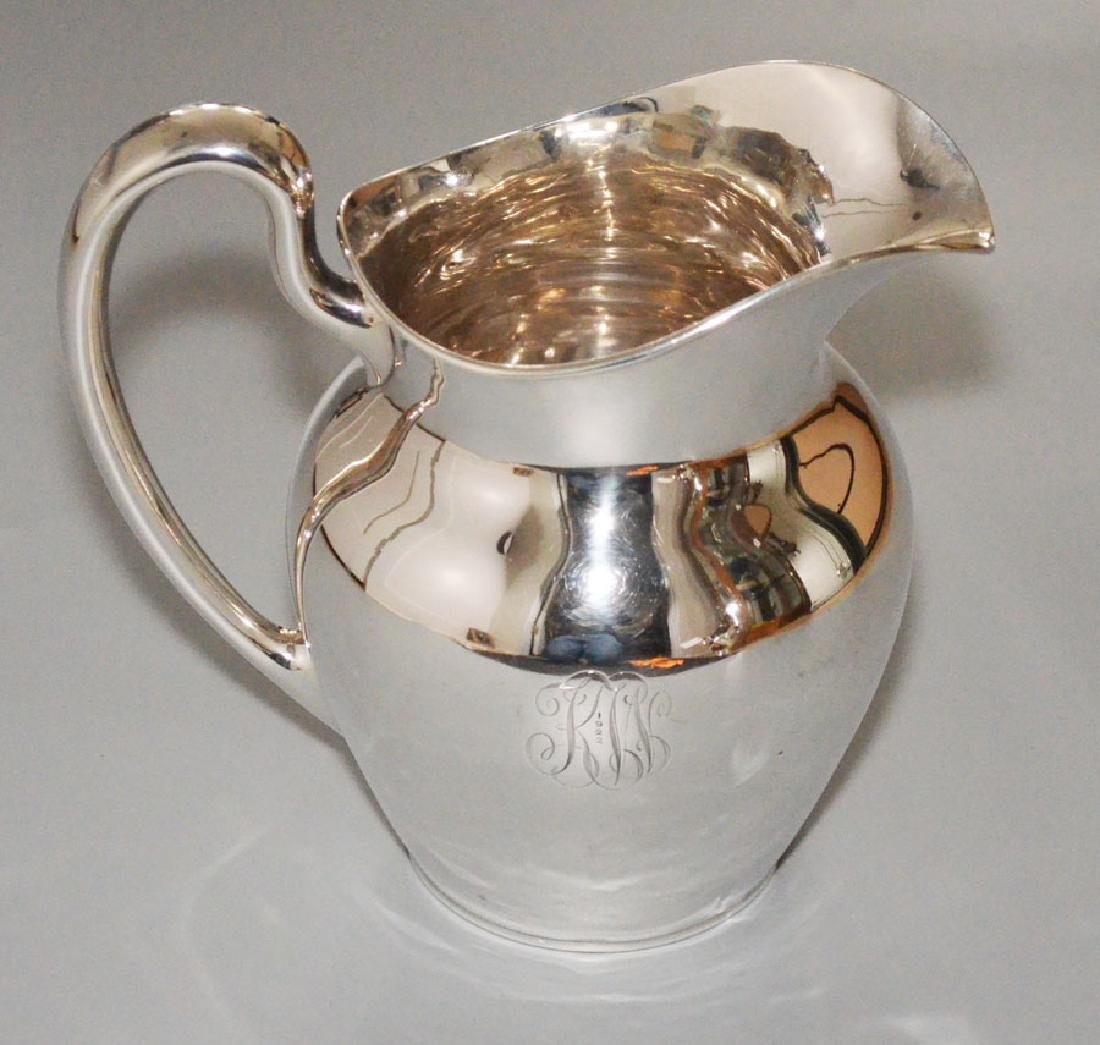 JS Co. Sterling Silver Water Pitcher