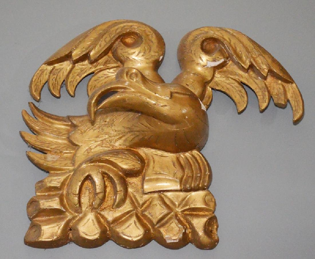 Striking Carved Wood Gilt Eagle