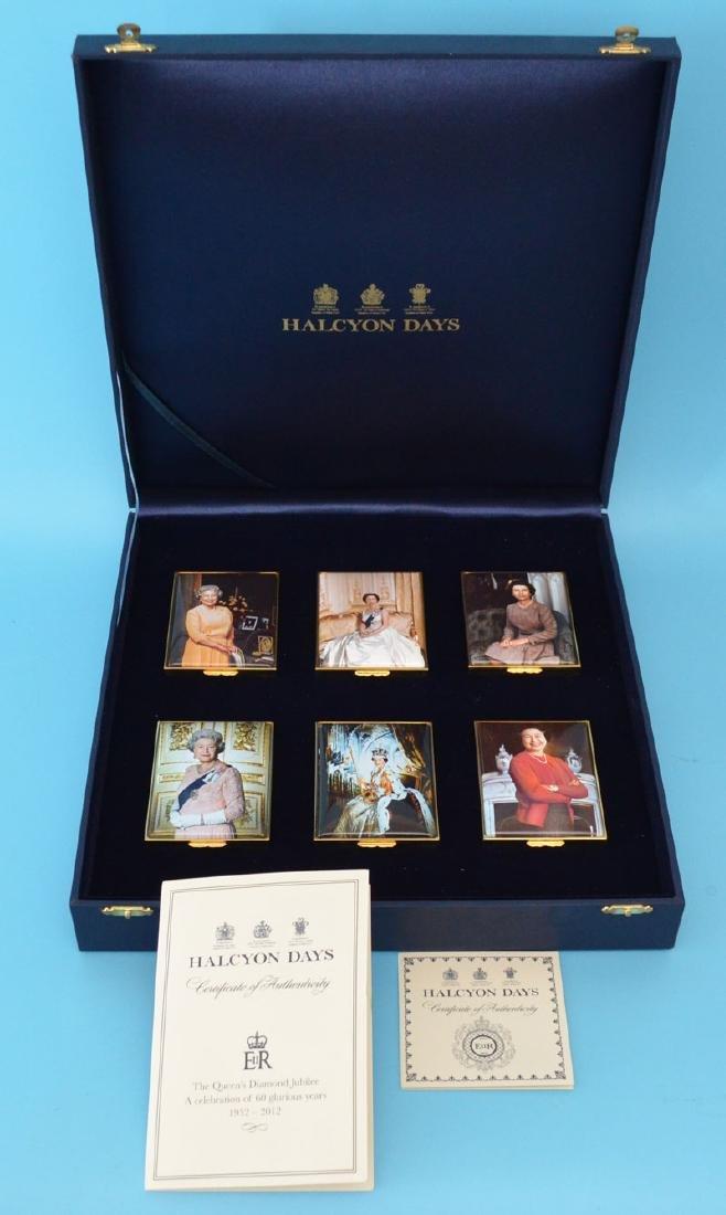 6 Halcyon Days Enamel Queens Jubilee Box Set
