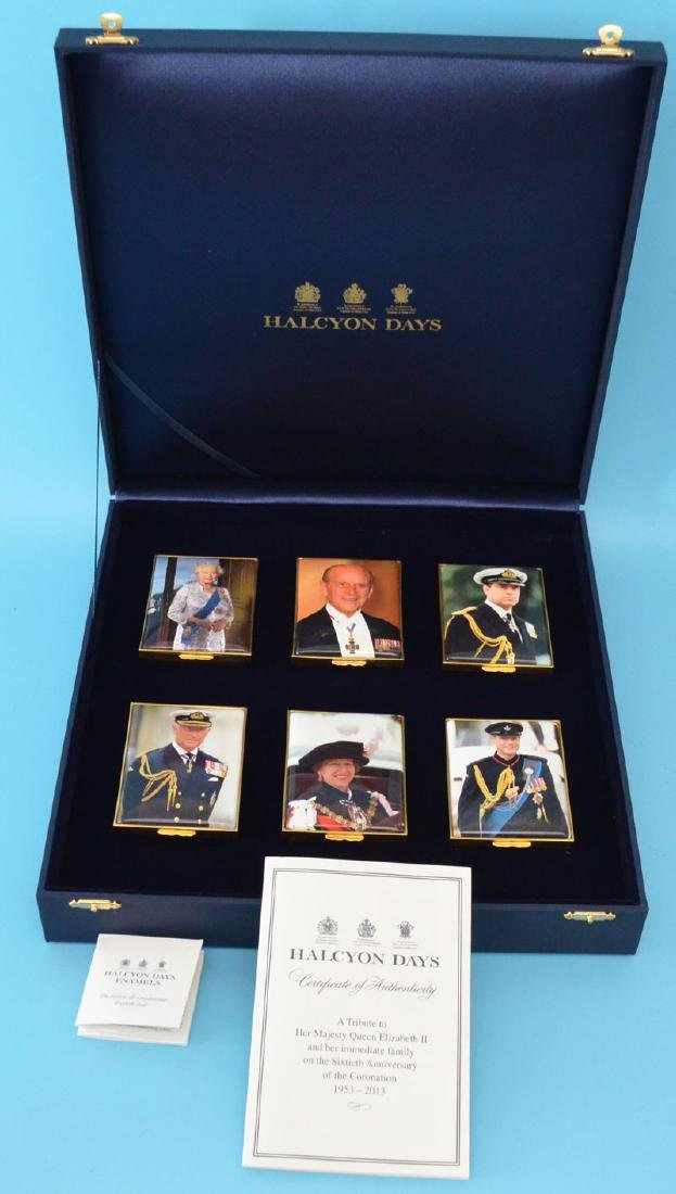 Group Of 6 Limited Edition Halcyon Days  Boxes