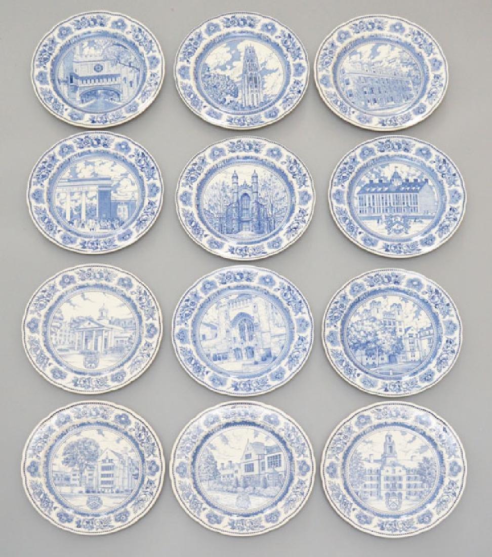 17 Yale Wedgwood Vintage Blue & White Plates