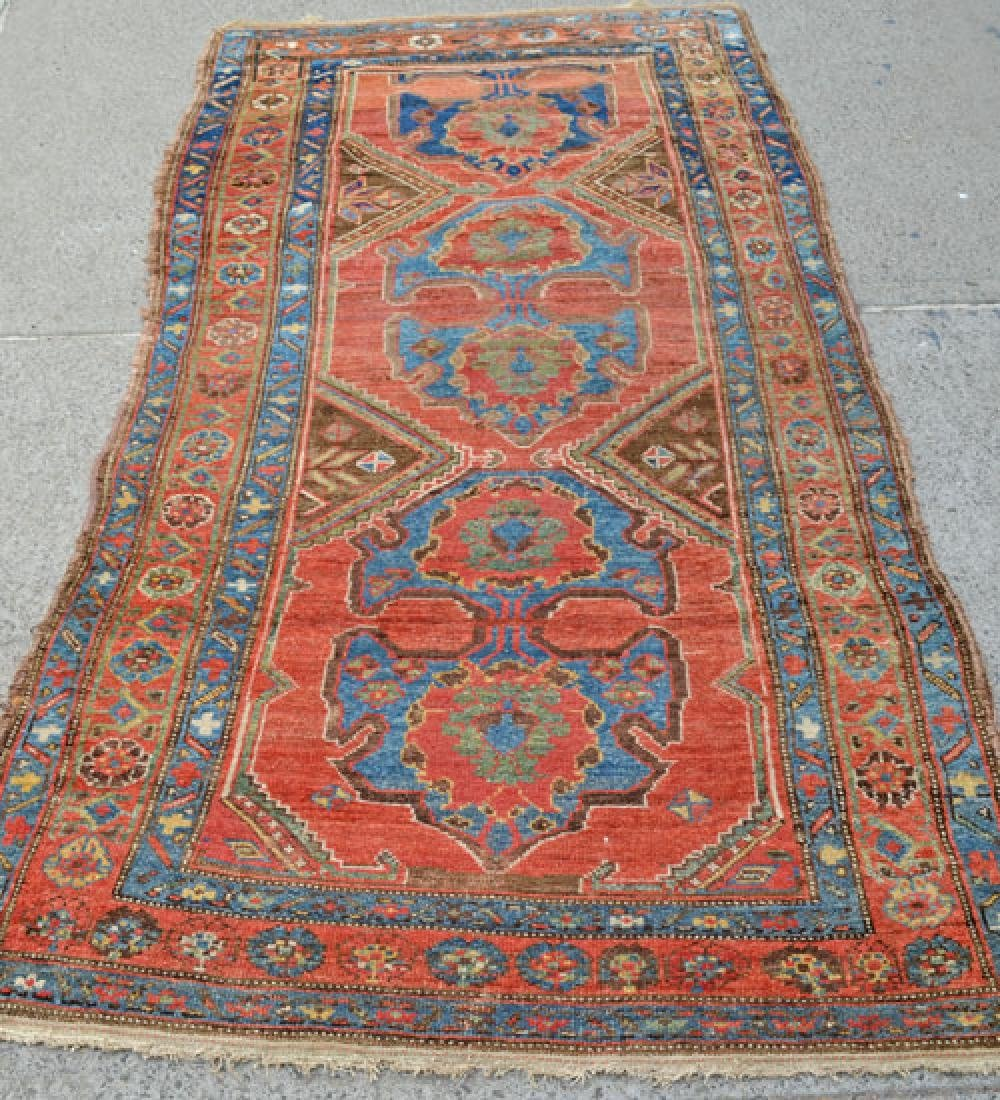 Nice Gently Worn Antique Bijar Carpet Rug