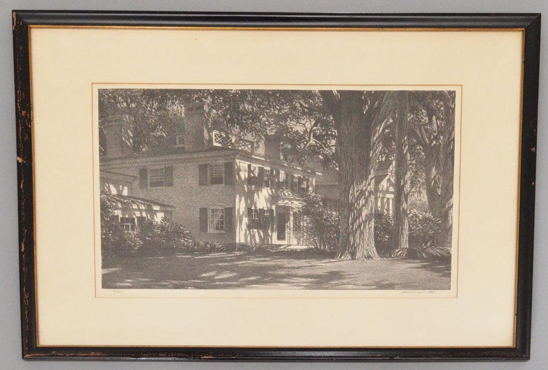 Stow Wengenroth Litho Of A House