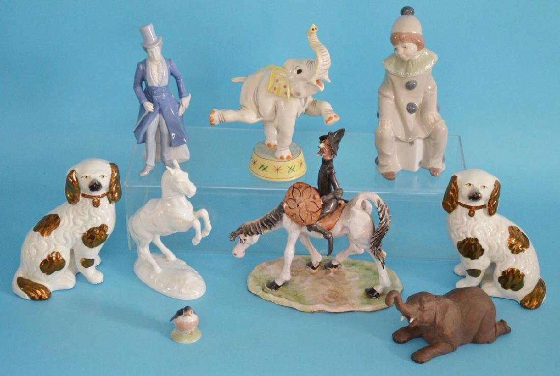 Lot Of Vintage Porcelain ( Staffordshire, Lladro, etc…)