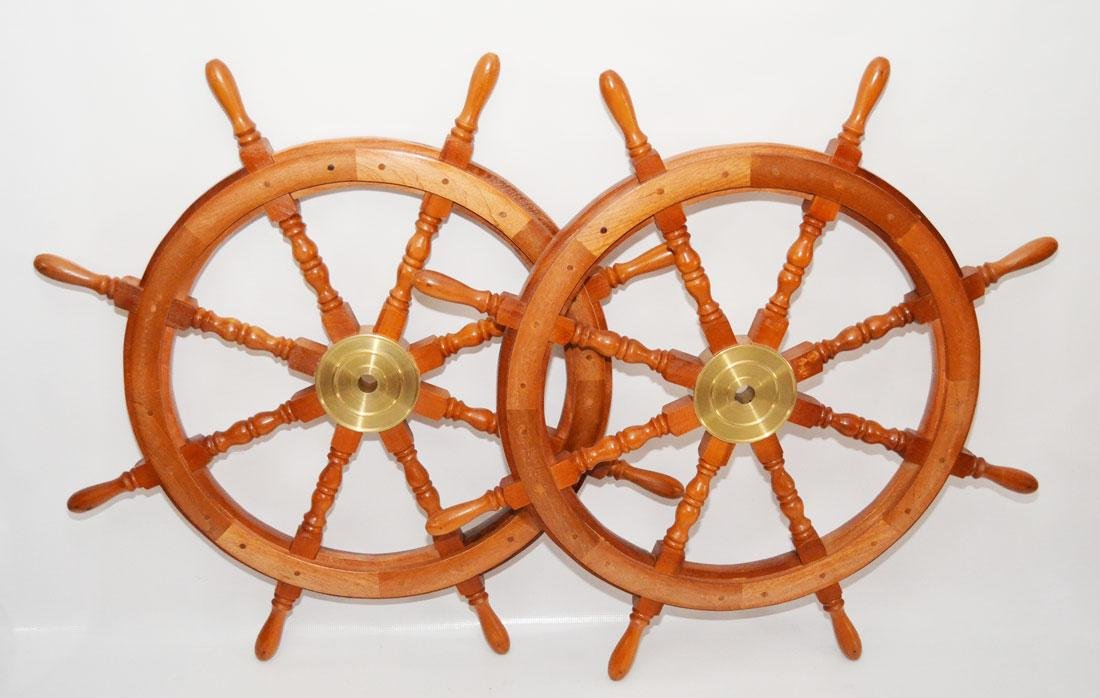Pr Of Vintage Ship Wheels