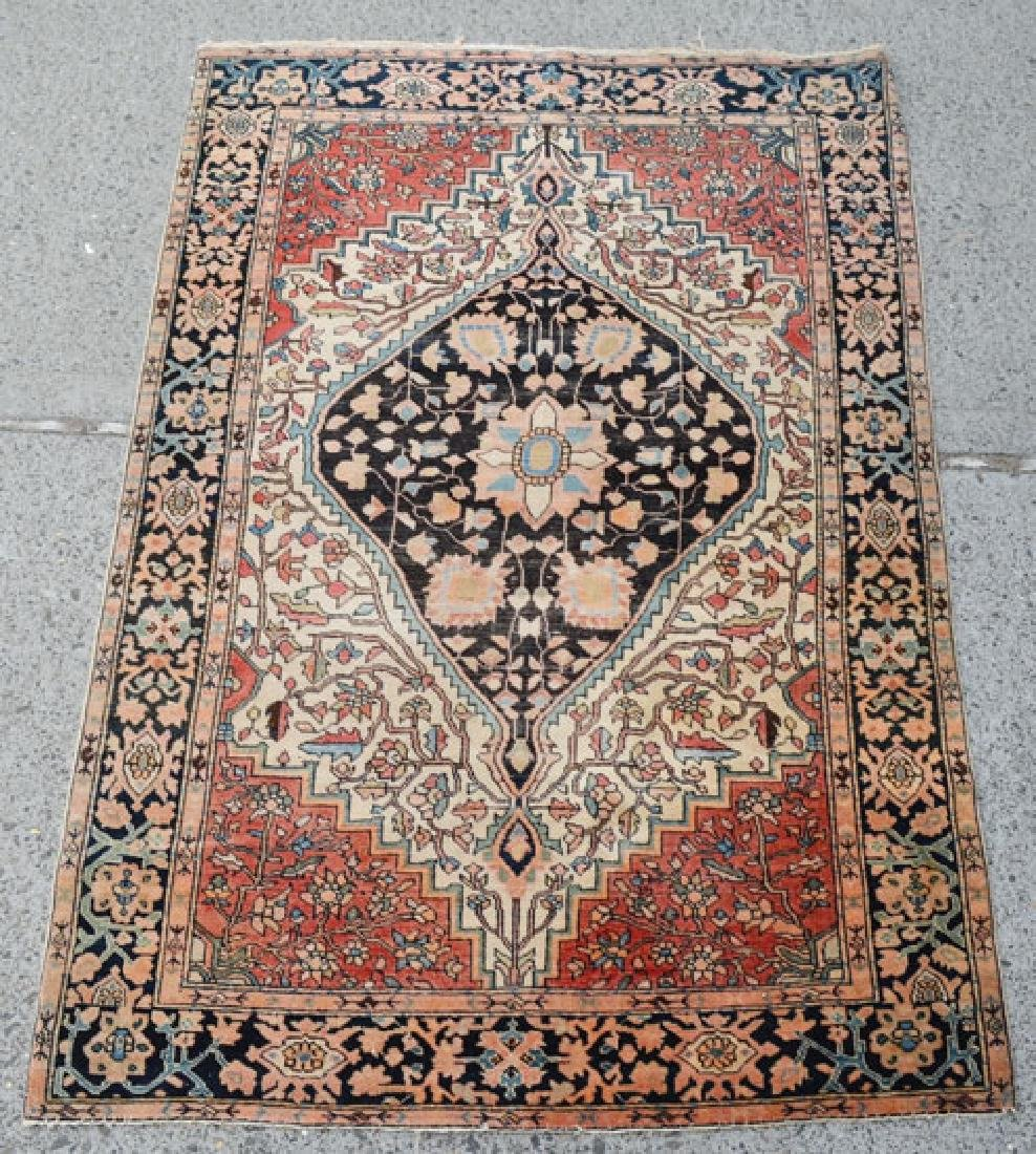 Antique Bidjar Carpet In Tasteful Colors