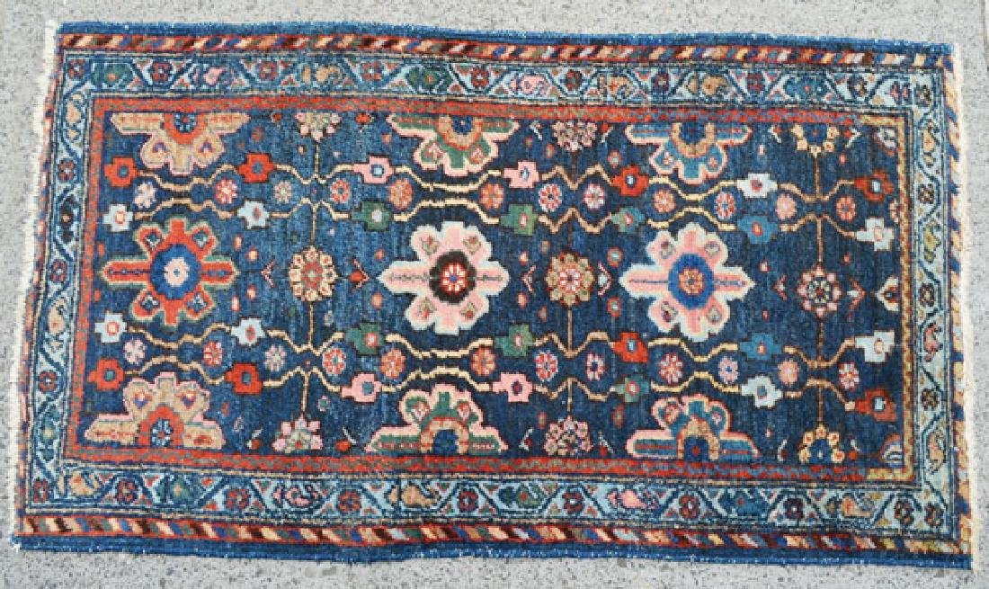 Beautiful Blue Field Kashan Carpet