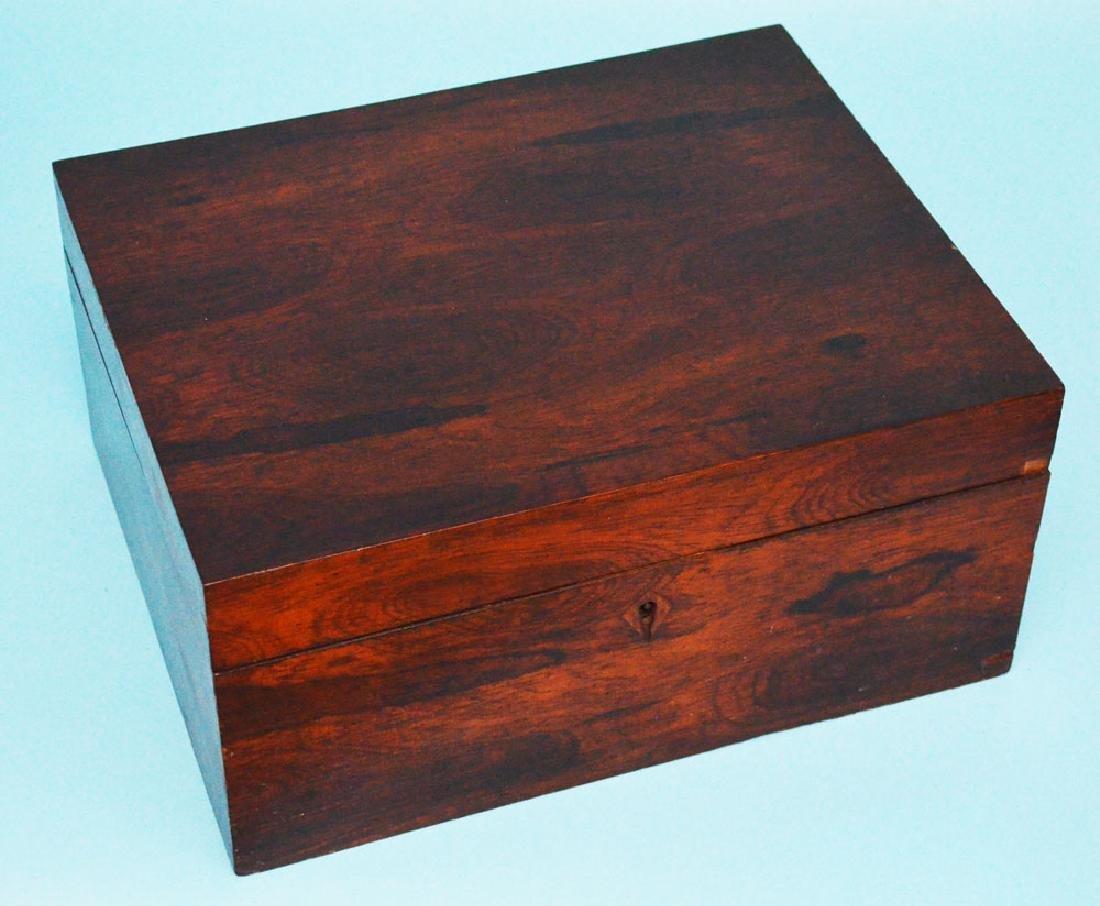 Elegant Rosewood Antique Document Box